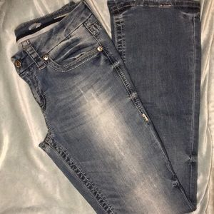 Distressed Bootcut Seven Jeans